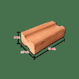 109 อิฐแดงตัน มอก.77-2545 ขนาด 4X6.5X14 ซม.