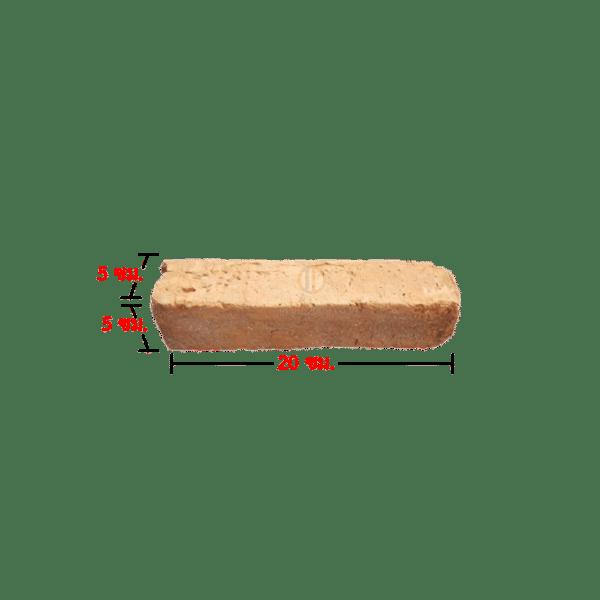 205 อิฐมอญโบราณ 05 (เผาแกลบ) ขนาด 5x5x20 ซม.