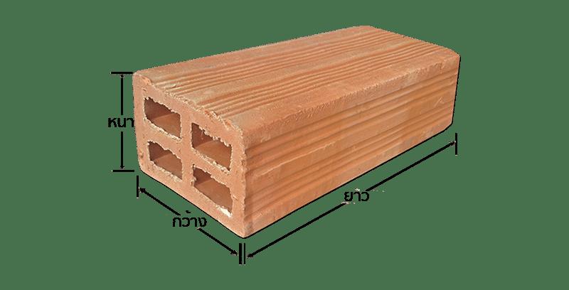 ตัวอย่างอิฐมอก153-2540 4 ช่อง