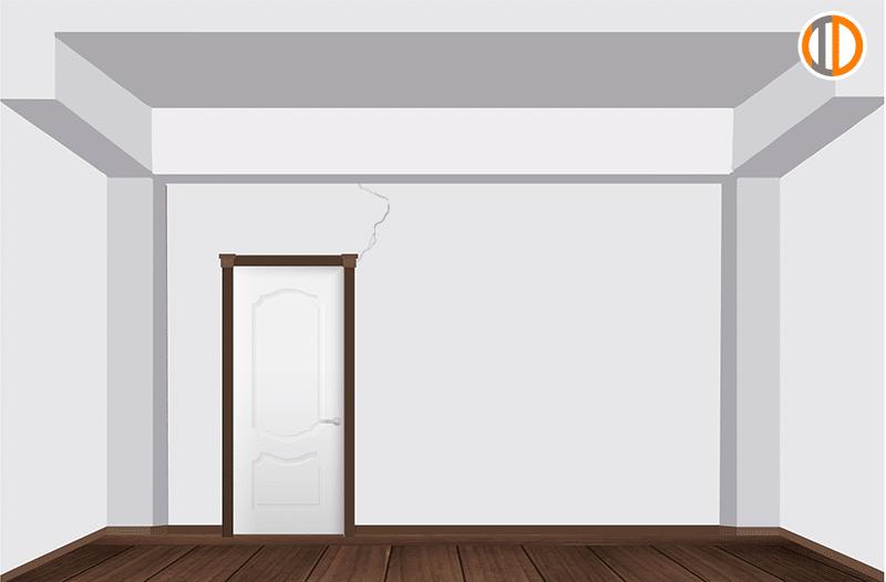 รอยร้าววงกลบประตู