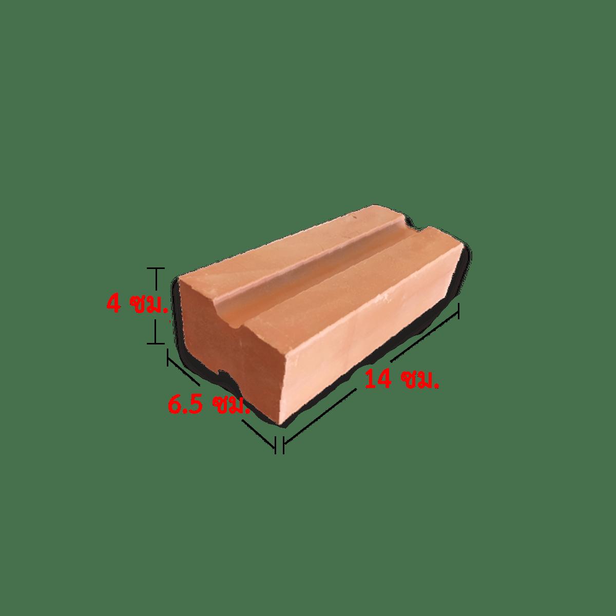 อิฐแดงโชว์ มอก.77 4x6.5x14 ซม.