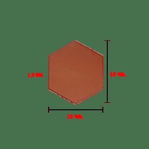 กระเบื้องดินผา ปูพื้น 6 เหลี่ยม ด้านเท่า 9.5 ซม.