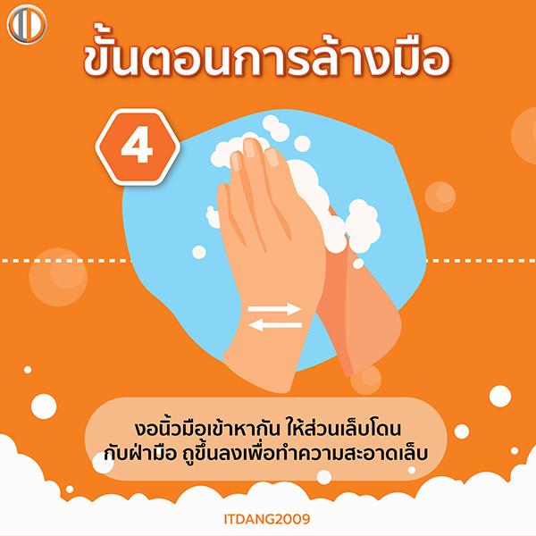 วิธีล้างมือขั้นตอนที่ 4