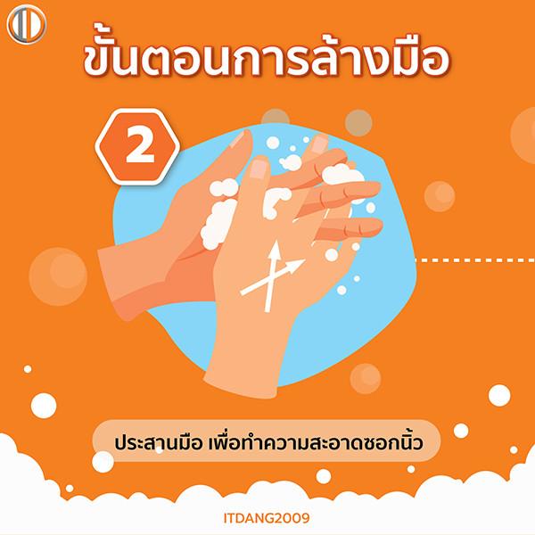 วิธีล้างมือขั้นตอนที่ 2