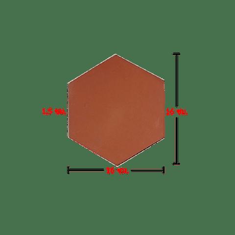 กระเบื้องปูพื้น 6 เหลี่ยม ใหญ่ 1.5x16x16 ซม.