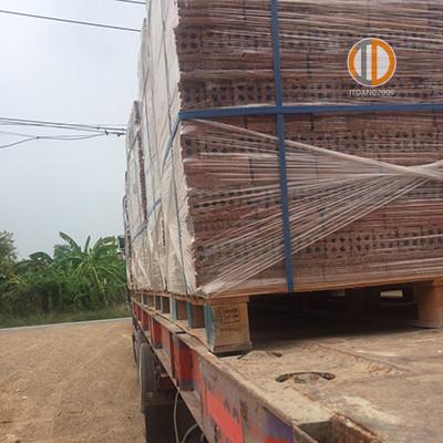 อิฐแดง 4 รูใหญ่ หน้างาน เกาะกง กัมพูชา