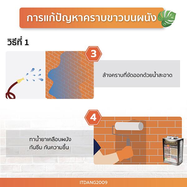 วิธีแก้ปัญหาคราบขาว 2