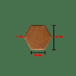 กระเบื้องปูพื้น 6 เหลี่ยม พวงแสด 1x10x10 ซม