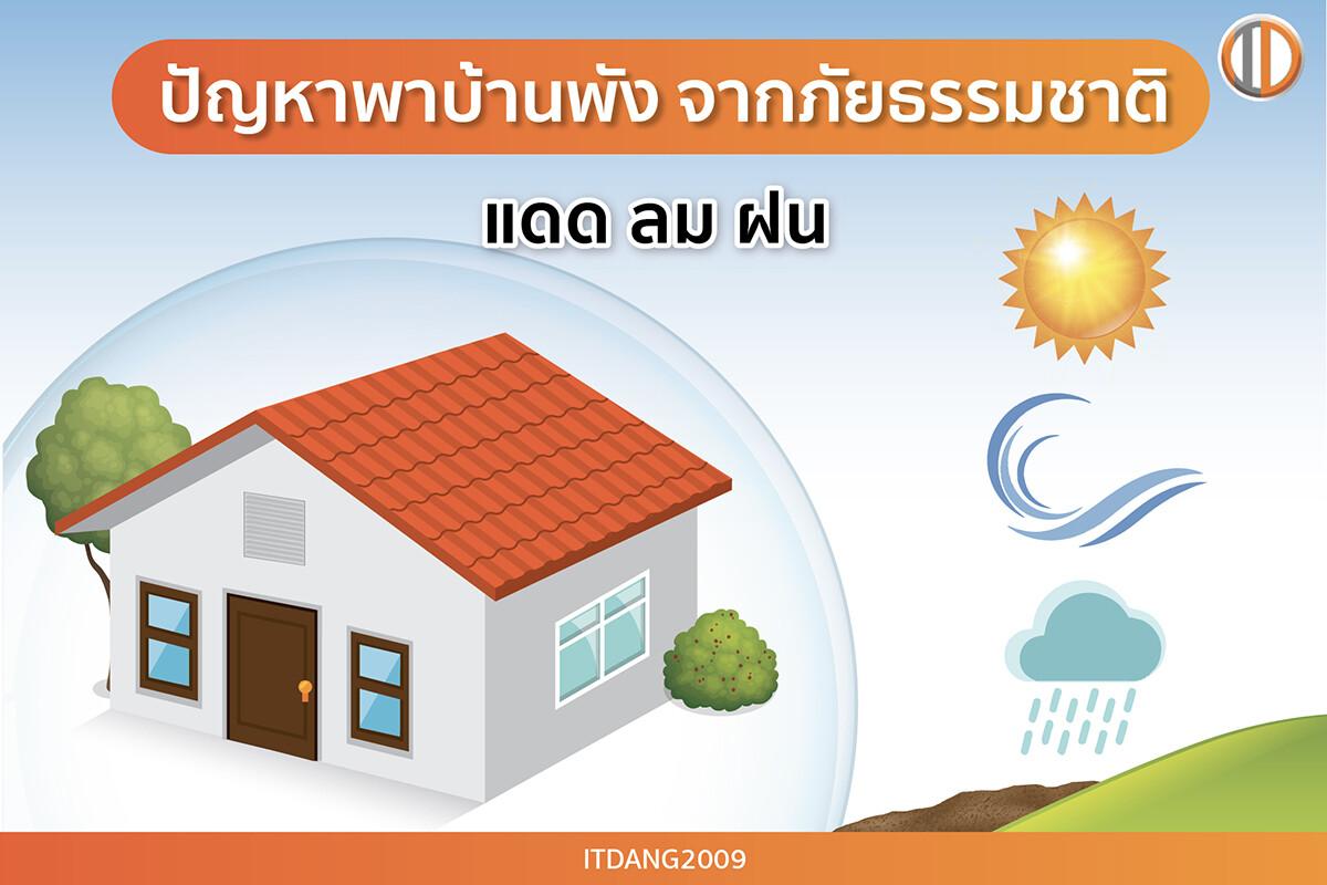 ปัญหาพาบ้านพังจากภัยธรรมชาติ และสภาพแวดล้อม