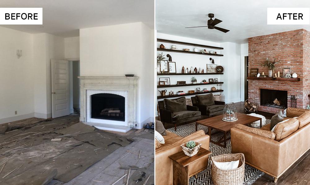 ตัวอย่าง การรีโนเวทบ้านที่ไม่ต้องขออนุญาต ภาพประกอบจาก domino.com การรีโนเวทห้องนั่งเล่นเก่าแก่กว่า 100 ปี ของ Tamlyn Willard ที่แคลิฟอเนีย
