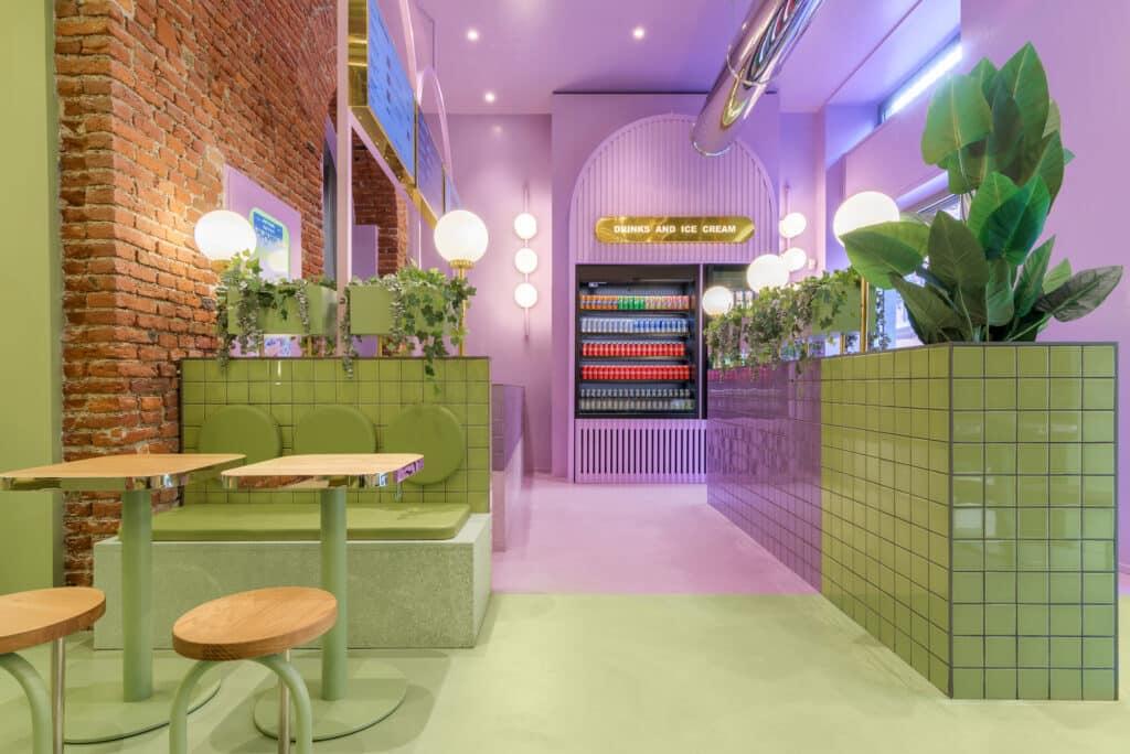 อิฐทั่วโลก : Hamburger Chain Bun Restaurant in Milan